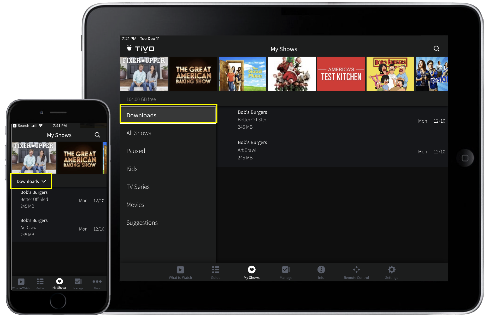 Streaming & Downloading (Mobile)